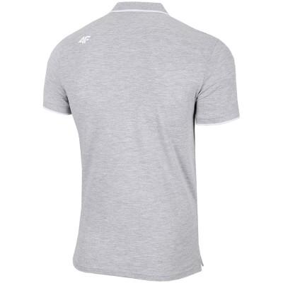 Мъжка Тениска с Яка 4F TSM024 Light Grey
