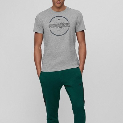 Мъжка Тениска 4F H4L21-TSM015-25 Grey