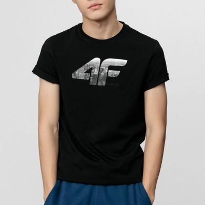 Мъжка Тениска 4F H4L21-TSM024-20 Black