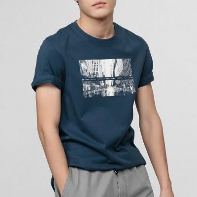 Мъжка Тениска 4F H4L21-TSM025-32 Denim