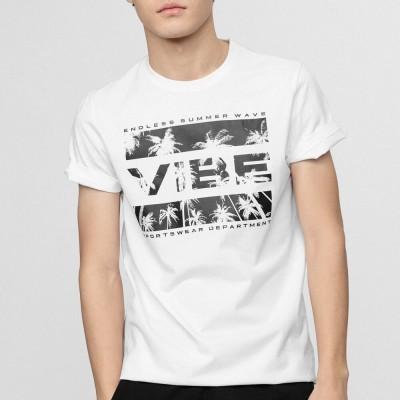 Мъжка Тениска 4F H4L21-TSM026-10 White
