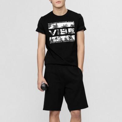 Мъжка Тениска 4F H4L21-TSM026-20 Black