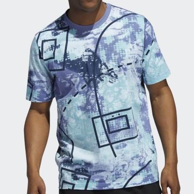 Мъжка Тениска Adidas Throwback Allover Print H42080