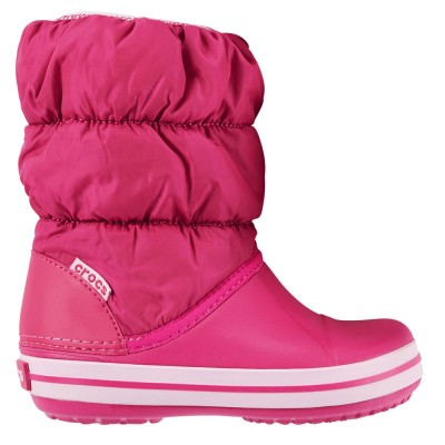 Crocs Candy Pink Winter Puff 14613-6XO