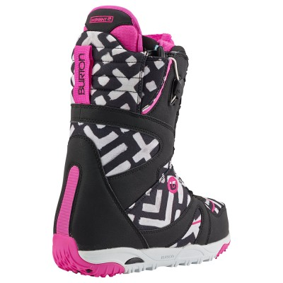 Дамски Сноуборд Обувки Burton Emerald Black Pink Print